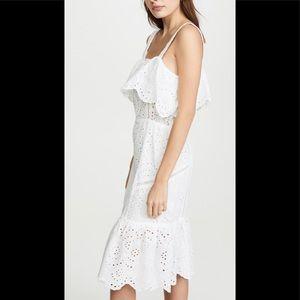 Nee! 7 for all mankind eyelet midi dress white M